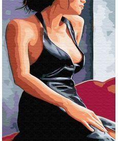 Картина по номерам Девушка у окна 40 х 50 см (BRM30473)
