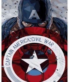 Картина по номерам Капитан Америка со щитом 40 х 50 см (BRM3941)