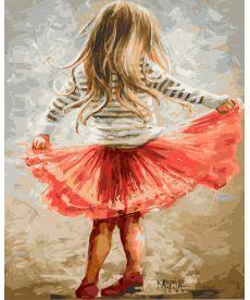 Картина по номерам Маленькая кокетка 40 х 50 см (BRM9256)