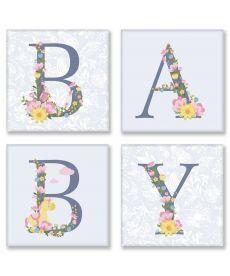 Картина по номерам Квартет Слово BABY Прованс Квартет 18 х 18 см (CH107)