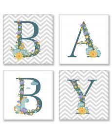 Картина по номерам Квартет Слово BABY Скандинавия Квартет 18 х 18 см (CH108)