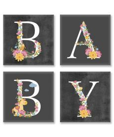 Картина по номерам Квартет Слово BABY Лофт Квартет 18 х 18 см (CH109)