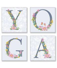 Картина по номерам Квартет Слово YOGA Прованс Квартет 18 х 18 см (CH116)