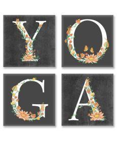 Картина по номерам Квартет Слово YOGA Лофт Квартет 18 х 18 см (CH118)