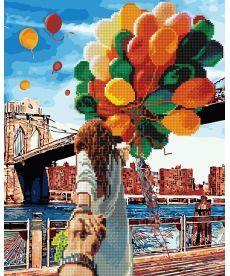 Картина по номерам Следуй за мной Бруклинский мост 40 х 50 см (GZS1006)
