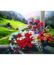 Картина по номерам Букет на окне 40 х 50 см (GZS1016)