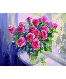 Картина по номерам Розы на окне 40 х 50 см (GZS1023)