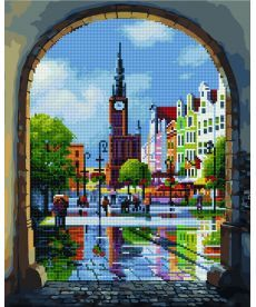 Картина по номерам Вид через арку 40 х 50 см (GZS1028)