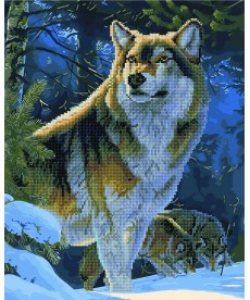 Картина по номерам Гордый волк 40 х 50 см (GZS1029)