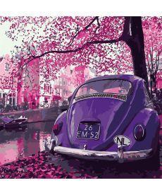 Картина по номерам Пейзаж в пурпурных тонах 40 х 40 см (KH2188)