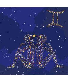 Картина по номерам Знак зодиака Близнецы (с краской металлик) 50 х 50 см (KH9506)