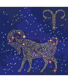 Картина по номерам Знак зодиака Овен (с краской металлик) 50 х 50 см (KH9508)