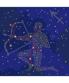 Картина по номерам Знак зодиака Стрелец (с краской металлик) 50 х 50 см (KH9511)