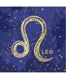 Картина по номерам Знак зодиака Лев (с краской металлик) 50 х 50 см (KH9516)