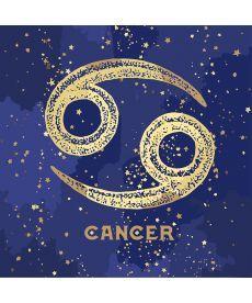 Картина по номерам Знак зодиака Рак (с краской металлик) 50 х 50 см (KH9517)