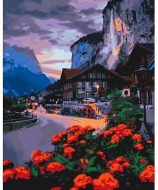 Картина по номерам Лето в Швейцарии 40 х 50 см (KHO2262)