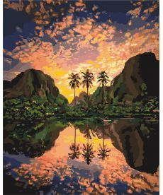 Картина по номерам Багряная лагуна 40 х 50 см (KHO2737)