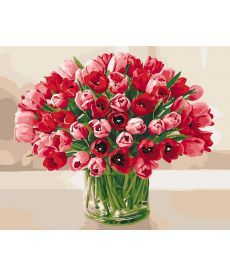 Картина по номерам Нежные тюльпаны 40 х 50 см (KHO3058)