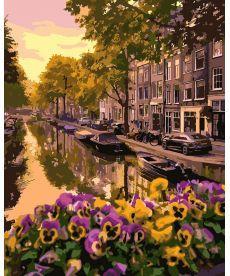 Картина по номерам Цветущий Амстердам 40 х 50 см (KHO3553)