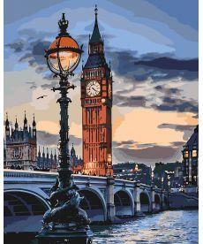 Картина по номерам Сумерки над Лондоном 40 х 50 см (KHO3555)
