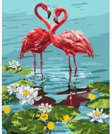 Картина по номерам Пара фламинго 40 х 50 см (KHO4144)