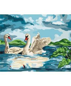 Картина по номерам У озера 40 х 50 см (KHO4147)