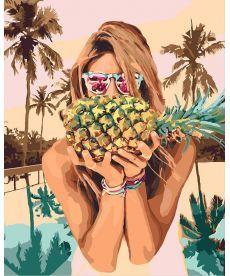 Картина по номерам Сочный ананас 40 х 50 см (KHO4629)
