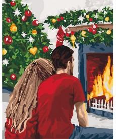 Картина по номерам Рождественская романтика 40 х 50 см (KHO4640)