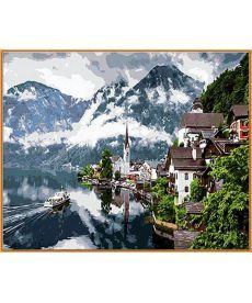 Картина по номерам Швейцарские Альпы  40 х 50 см (NB352R)
