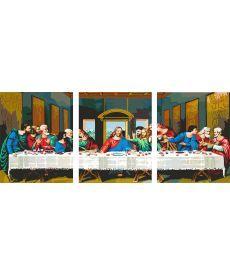 Картина по номерам Тайная вечеря Триптих 50 х 120 см (PX5094)