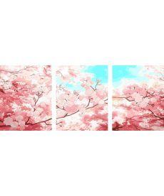 Картина по номерам Весеннее небо Триптих 50 х 120 см (PX5172)