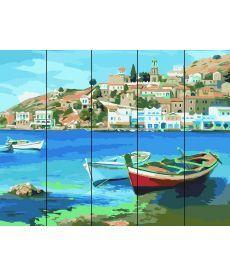 Картина по номерам Лодки у причала 40 х 50 см (RA-AS0024)