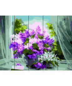 Картина по номерам Сирень у окна 40 х 50 см (RA-F31)
