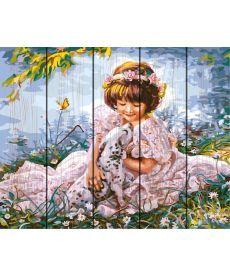 Картина по номерам Девочка с долматинцем 40 х 50 см (RA-GXT8553)