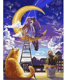 Картина по номерам Вечер влюбленных 30 х 40 см (VK219)