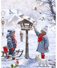 Картина по номерам Кормушка для птиц 40 х 50 см (VP1001)