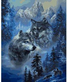 Картина по номерам Зимние волки 40 х 50 см (VP1130)