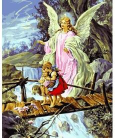 Картина по номерам Ангел хранитель 40 х 50 см (VP434new)