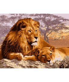 Картина по номерам Царственный отдых 40 х 50 см (VP992)