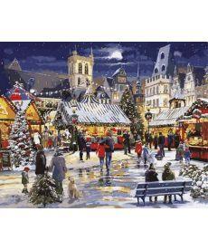 Картина по номерам Рождество в городе 40 х 50 см (VP999)