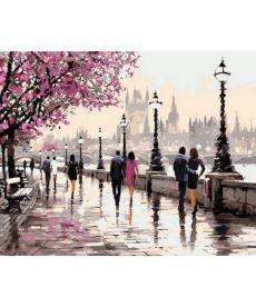 Картина по номерам Цветущая набережная 50 х 65 см (VPS553)