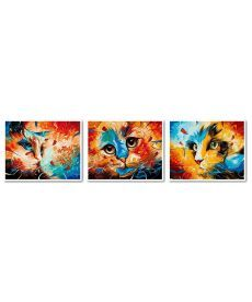 Картина по номерам Триптих Кошачье трио Триптих 40 х 150 см (VPT016)