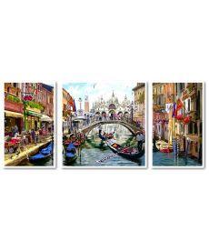 Картина по номерам Триптих Каникулы в Венеции Триптих 1 50 х 50 см, 2 по 30 х 50 см (VPT043)