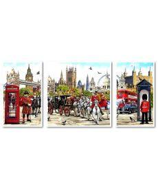 Картина по номерам Триптих Очарование Англии Триптих 1 50 х 50 см, 2 по 30 х 50 см (VPT045)