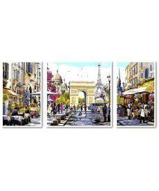 Картина по номерам Триптих Весенний Лондон Триптих 1 50 х 50 см, 2 по 30 х 50 см (VPT046)