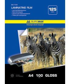 Пленка для ламинирования Buromax 125мкм 216x303мм - A4 100шт BM.7725