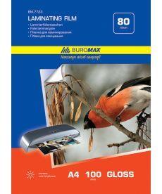 Пленка для ламинирования Buromax 80мкм 216x303мм - A4 100шт BM.7723