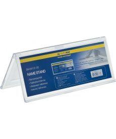 Табличка информационная Buromax двухсторонняя 200х72мм прозрачная BM.6413-00