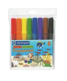 Фломастеры Centropen 8 цветов JUMBO TRANSPARENT 8580/08