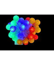 Электрогирлянда светод ''Ягоды'', 40 ламп, многоц., 3 м., 8 реж.мигания, прозр.провод